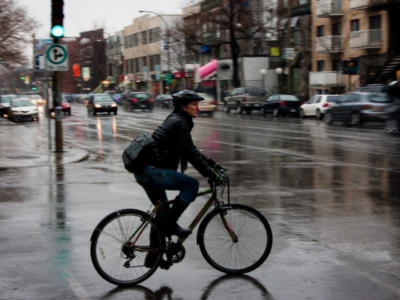 Riding your bike safely in the rain